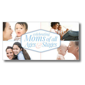 Stages of Motherhood XLarge Postcards