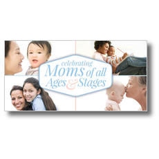Stages of Motherhood XLarge Postcard