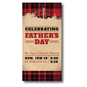 Father's Day Plaid XLarge Postcards