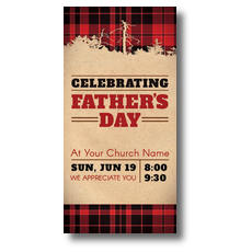 Father's Day Plaid Postcard