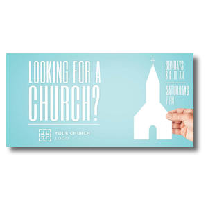 Looking Church XLarge Postcards