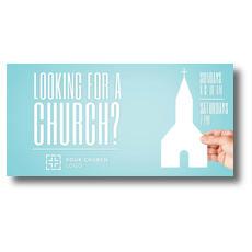Looking Church XLarge Postcard