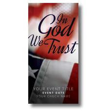God We Trust XLarge Postcard