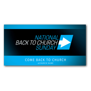 Come Back to Church BTCS XLarge Postcards