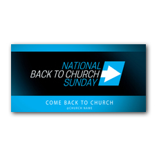 Come Back to Church BTCS XLarge Postcard