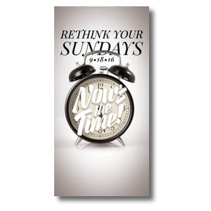 "Nows the Time Clock BTCS 11"" x 5.5"" Oversized Postcards"