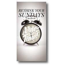 Nows the Time Clock BTCS XLarge Postcard
