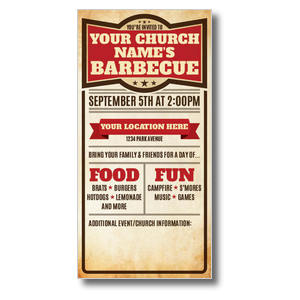 "BBQ Details 11"" x 5.5"" Oversized Postcards"