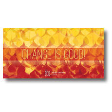 Change Is Good XLarge Postcard