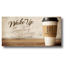 Coffee Invite XLarge Postcard