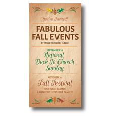 Fabulous Fall XLarge Postcard