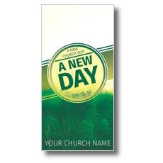 Green New Day Church XLarge Postcard