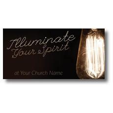 Illuminate Light Bulb XLarge Postcard