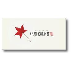 Red Leaf XLarge Postcard