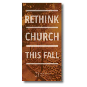 "Rethink Church 11"" x 5.5"" Oversized Postcards"