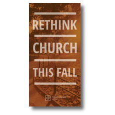 Rethink Church XLarge Postcard