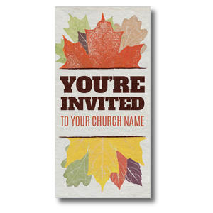 Stamped Leaves XLarge Postcards