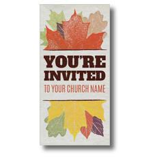 Stamped Leaves XLarge Postcard