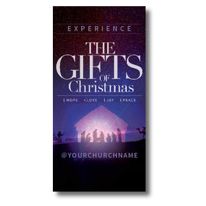 "The Gifts of Christmas Advent 11"" x 5.5"" Oversized Postcards"
