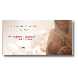 Baby Jesus and Mary XLarge Postcards
