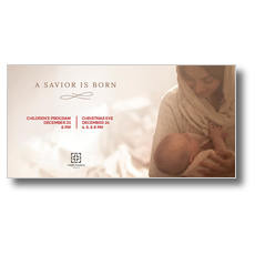 Baby Jesus and Mary XLarge Postcard