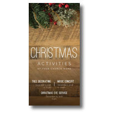 Christmas Activities Church Postcard