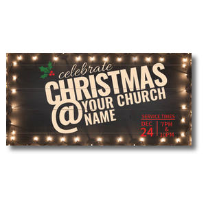 Christmas At Lights XLarge Postcards