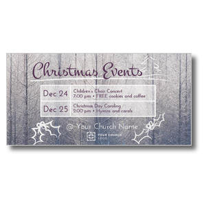 Christmas Events Grid XLarge Postcards