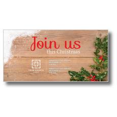 Christmas Holly XLarge Postcard