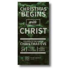 Christmas Tree Event XLarge Postcard