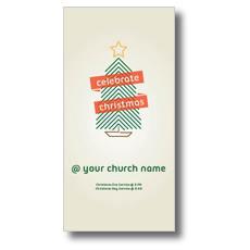 Christmas Tree Line Art XLarge Postcard