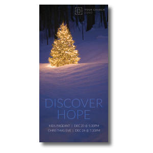 Discover Hope Bright Tree XLarge Postcards