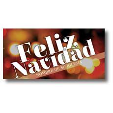 Feliz Navidad XLarge Postcard