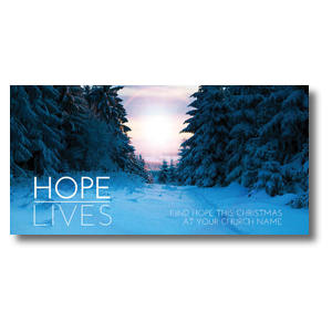 "Hope Lives 11"" x 5.5"" Oversized Postcards"