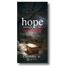 Hope Revealed Manger XLarge Postcard