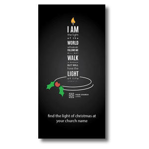 Light of the World Candle Church Postcards