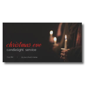People Christmas Eve Candles Church Postcards