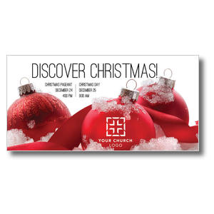 Red Ornaments XLarge Postcards