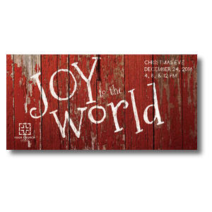 Red Wood Joy XLarge Postcards