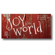 Red Wood Joy XLarge Postcard