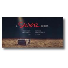 Savior Born XLarge Postcard