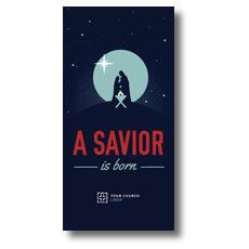 Savior Born Silhouette XLarge Postcard