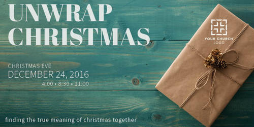 Unwrap Christmas Postcard - Church Postcards - Outreach Marketing