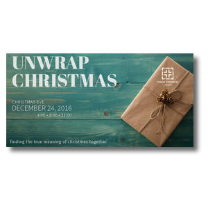 Unwrap Christmas XLarge Postcards