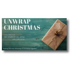 Unwrap Christmas XLarge Postcard