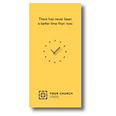 Yellow Clock XLarge Postcard