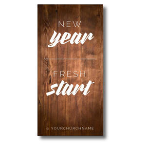 New Year Fresh Start XLarge Postcards