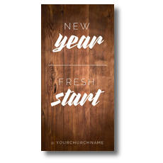 New Year Fresh Start XLarge Postcard