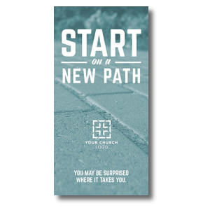 "Start New Path 11"" x 5.5"" Oversized Postcards"