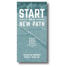 Start New Path XLarge Postcard